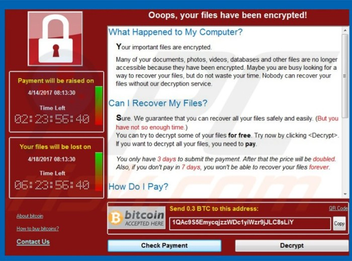 wcry ransomware updated variant